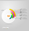 circle infographics 4 steps for business vector image