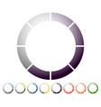 circular preloader progress indicator icon w 8 vector image vector image