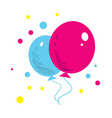 color balloons isolated icon vector image