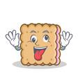 crazy biscuit cartoon character style vector image