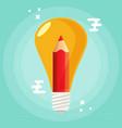 creative idea flat design vector image vector image