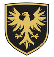 eagle - coat arms vector image vector image