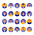 flat modern purple minimal avatar icons business vector image vector image