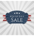 fourth july sale badge vector image vector image