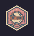 galaxy expedition vintage isolated label vector image