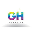 gh g h colorful letter origami triangles design vector image