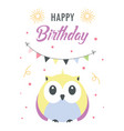 greeting card with cut owl vector image
