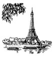 Hand draw eiffel tower