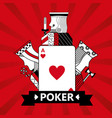 heart ace jack king and queen cards playing poker vector image vector image