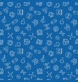 human cloning outline seamless pattern vector image