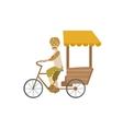 Indian Bicycle Rickshaw vector image