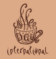 International coffee day food event concept
