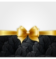 Invitation card with Gold holiday ribbon on vector image