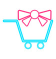 isolated shopping cart icon vector image