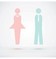 Man and woman cool silhouette vector image