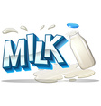 Milk logo on white vector image