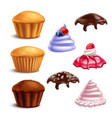 muffin essential elements set vector image vector image