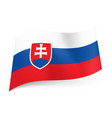 national flag of slovakia white blue and red vector image