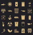 nature protection icons set simple style vector image vector image