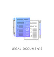 neon legal documents line icon vector image