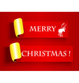 Peeling label-Merry Christmas vector image vector image