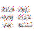 Perfect paper banners vector image vector image