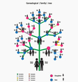 Picture of the genealogical family tree vector | Price: 1 Credit (USD $1)