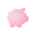 Pink piggy bank isolated on white background vector image