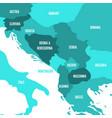 political map of balkans - states of balkan vector image vector image