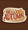 poster for autumn season vector image vector image