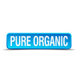 pure organic blue 3d realistic square isolated vector image vector image