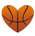 Realistic basketball heart vector image vector image