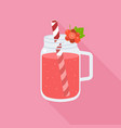 red currant smoothie in mason jar glass vector image vector image