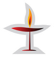 red unitarian religion symbol on a white vector image vector image