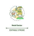 retail sector concept icon vector image vector image