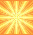 retro starburst background vector image vector image