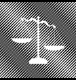 scales of justice sign icon hole in vector image