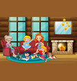 scene with family having a good time at home vector image vector image