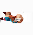 science background abstract triangle pattern vector image vector image