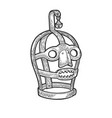 scolds bridle torture device sketch vector image vector image