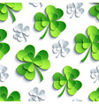 seamless pattern with 3d patricks clover cutting vector image vector image