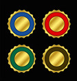 set of empty colors golden labels or badge vector image vector image
