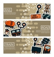 Set of Horizontal Banners about railroads vector image vector image