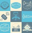 set of keys design elements vector image