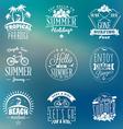 Set of Summer Holidays Badges Hipster Vintage vector image vector image