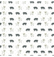 Sheep and wolf pattern vector image vector image