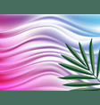 smooth lines and green leaf vector image vector image