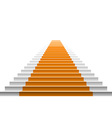 staircase with orange carpet carpet stairs vector image vector image