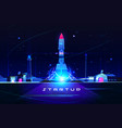 startup rocket launch business marketing idea vector image