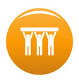 strong teamwork icon orange vector image vector image